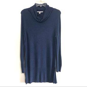 Adrienne Vittadini navy cowl neck sweater tunic
